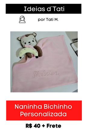 Naninha com Bichinho Personalizada