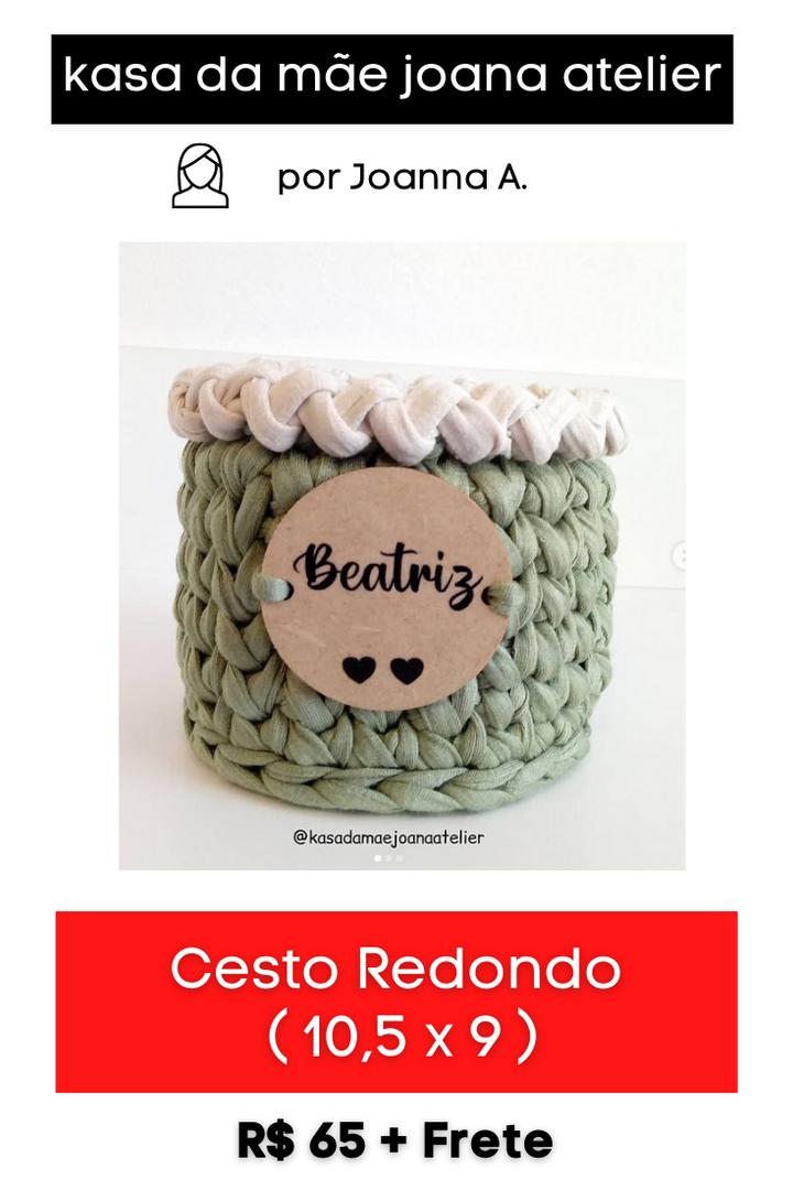 Cesto Redondo com Plaquinha Personalizada