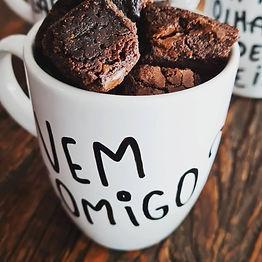 Caneca Frases com Brownie