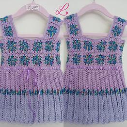 Vestido Bebê Square Violeta