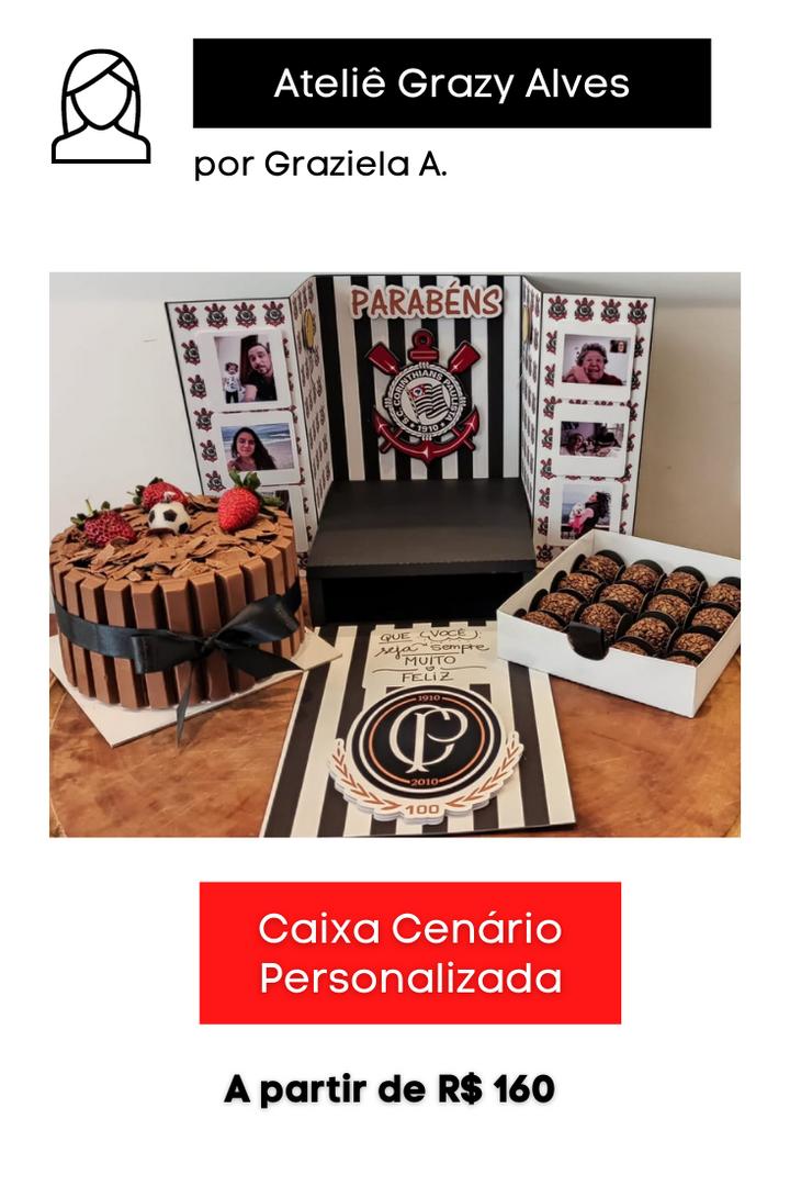 Caixa Cenário Personalizada   Tema: Corinthians