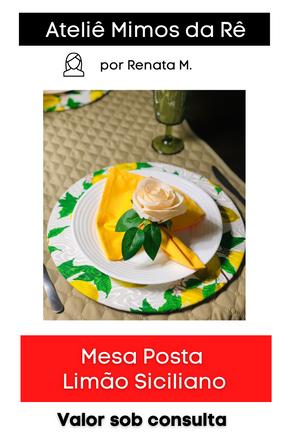 Mesa Posta Limão Siciliano