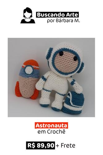 Astronauta em Crochê