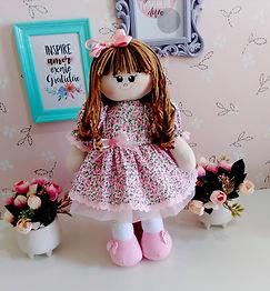 Boneca de Pano Floral