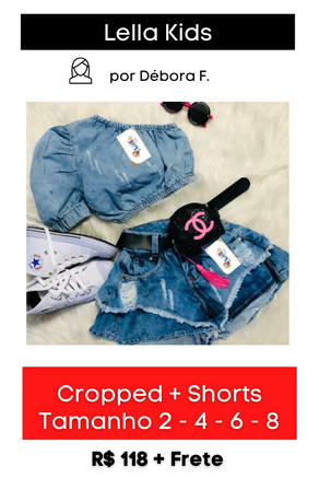 Cropped + Shorts Jeans