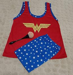 Pijama em Malha Mulher Maravilha