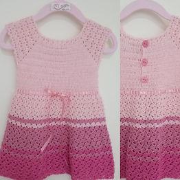 Vestido Bebe Reborn Rosa