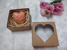 Sabonete de Glicerina em formato de coração
