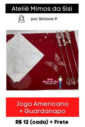 Jogo Americano + Guardanapo