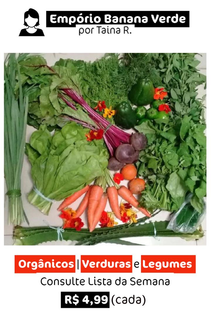 Orgânicos: Verduras e Legumes