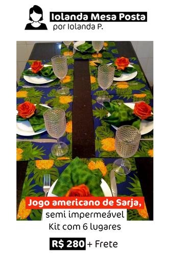 Jogo Americano de Sarja | 6 lugares
