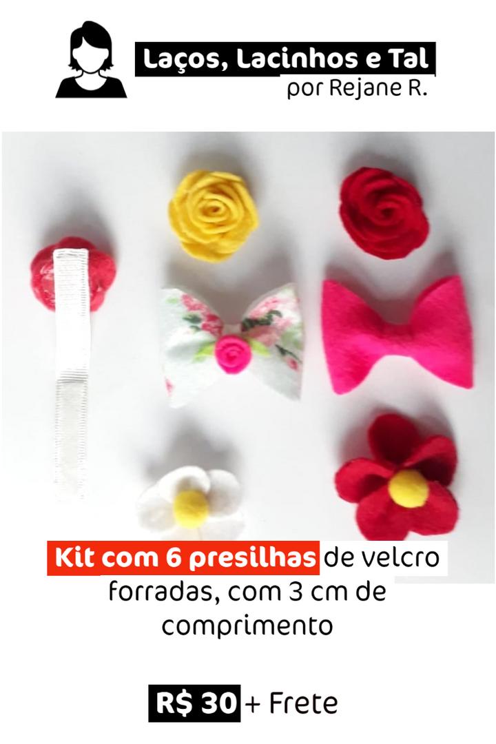 Kit com 6 Presilhas