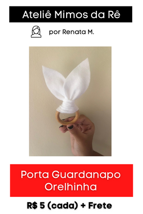 Porta Guardanapo Orelhinha