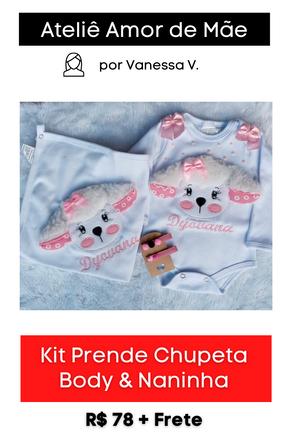 Kit Prende Chupeta: Body & Naninha