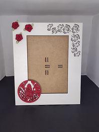 Porta Retrato Rosas Vermelhas