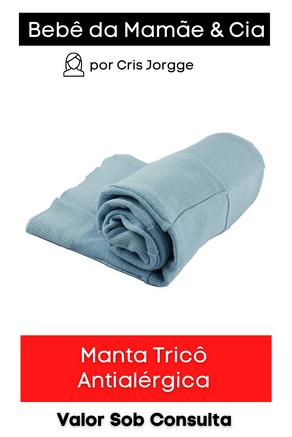 Manta Tricô Antialérgica
