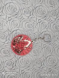 Chaveiro Mulher Rosas Vermelhas