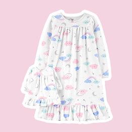 Pijama Tal Menina, Tal Boneca em Fleece