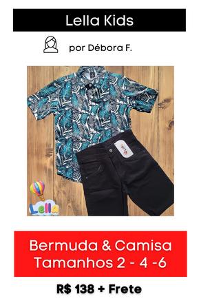 Conjunto de Bermuda + Camisa