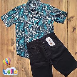 Conjunto de Bermuda e Camisa