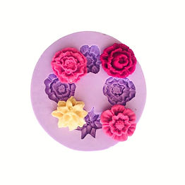 Molde de Silicone de Flores Rosas