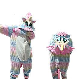 Pijama Unicórnio Arco Íris