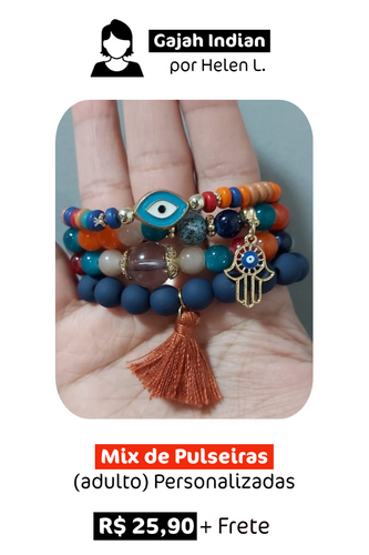Mix de Pulseiras Personalizadas