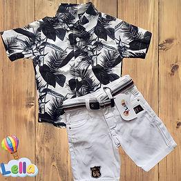 Conjunto Bermuda e Camisa