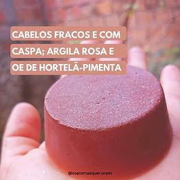 Shampoo ou Condicionador Sólido de Argila Rosa