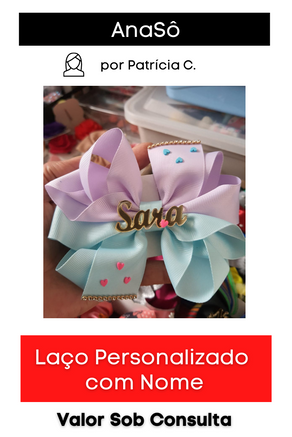Laço Luxo Personalizado com Nome