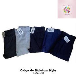 Kit 05 Calças de Moletom Infantil