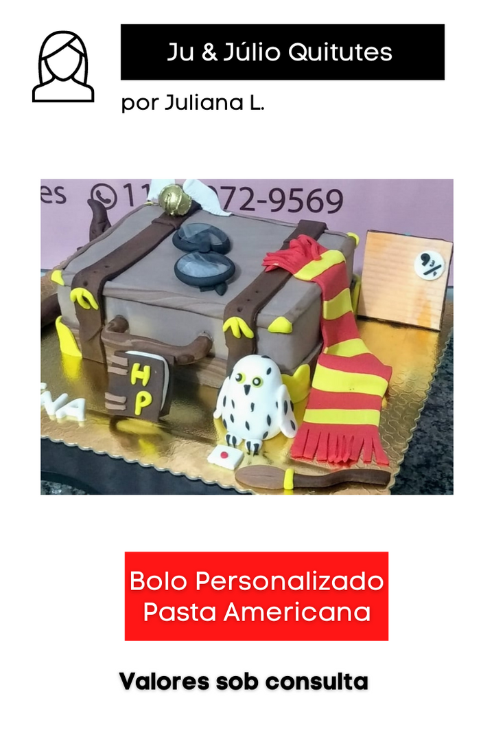 Bolo Personalizado com Pasta Americana
