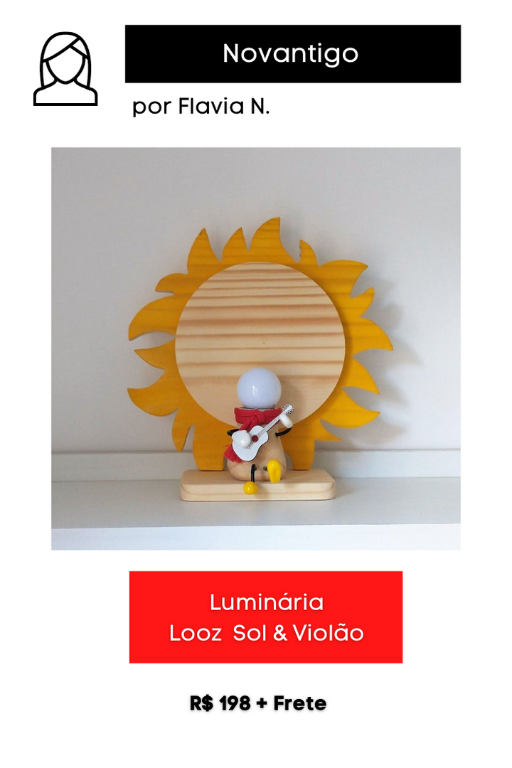 Luminária Looz Sol & Violão
