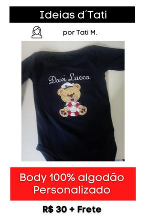 Body 100% algodão Personalizado