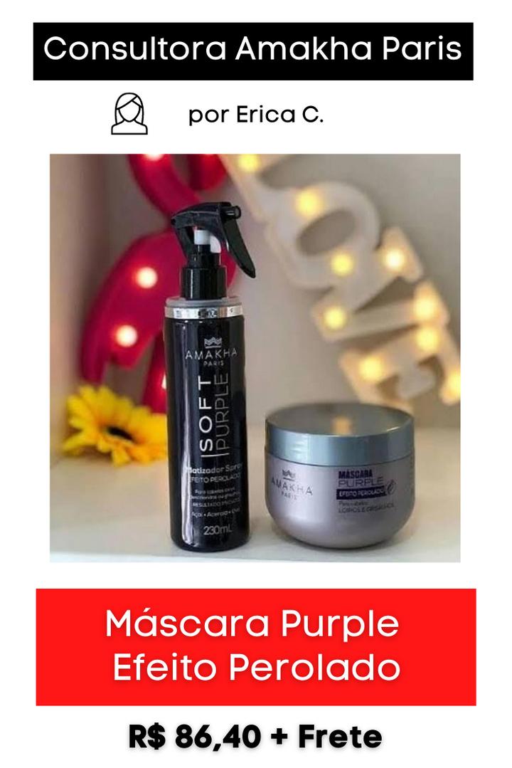 Máscara Purple Efeito Perolado