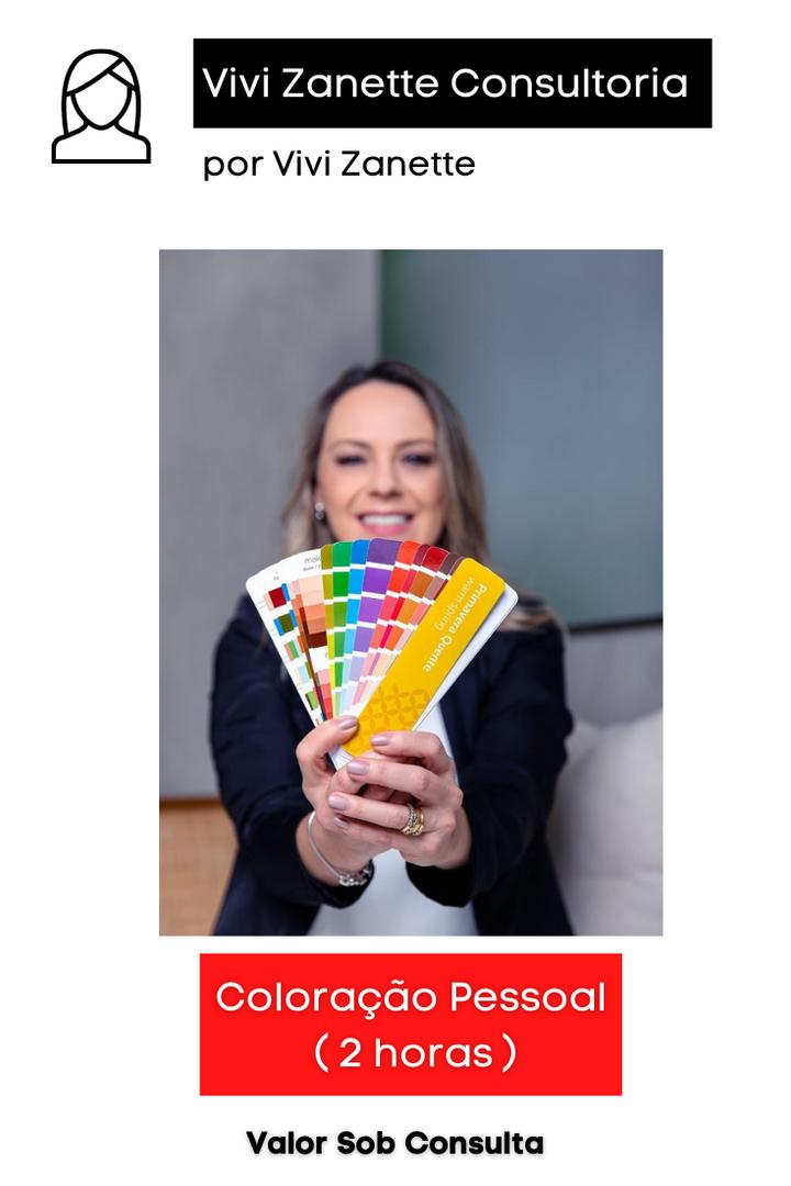 Coloração Pessoal | 2 horas | Valor sob Consulta