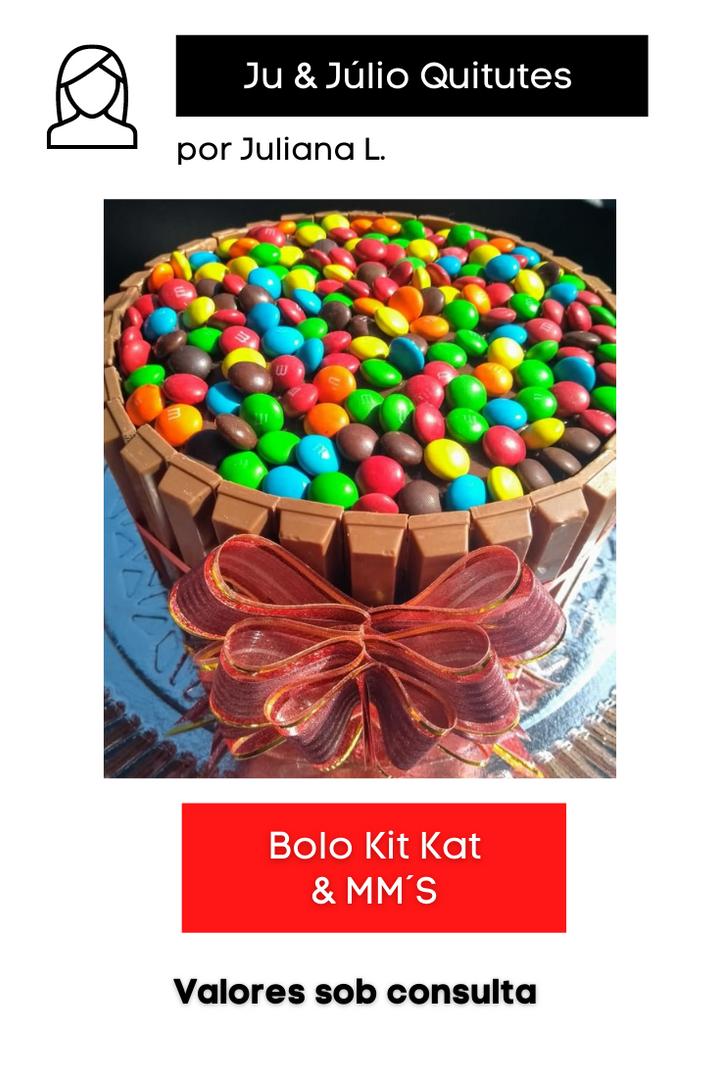 Bolo Kit Kat e MM´s