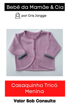 Casaquinho Tricô Menina