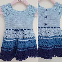Vestido Bebe Reborn Azul