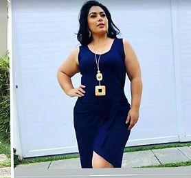 Vestido Laço Transpassado Plus Size