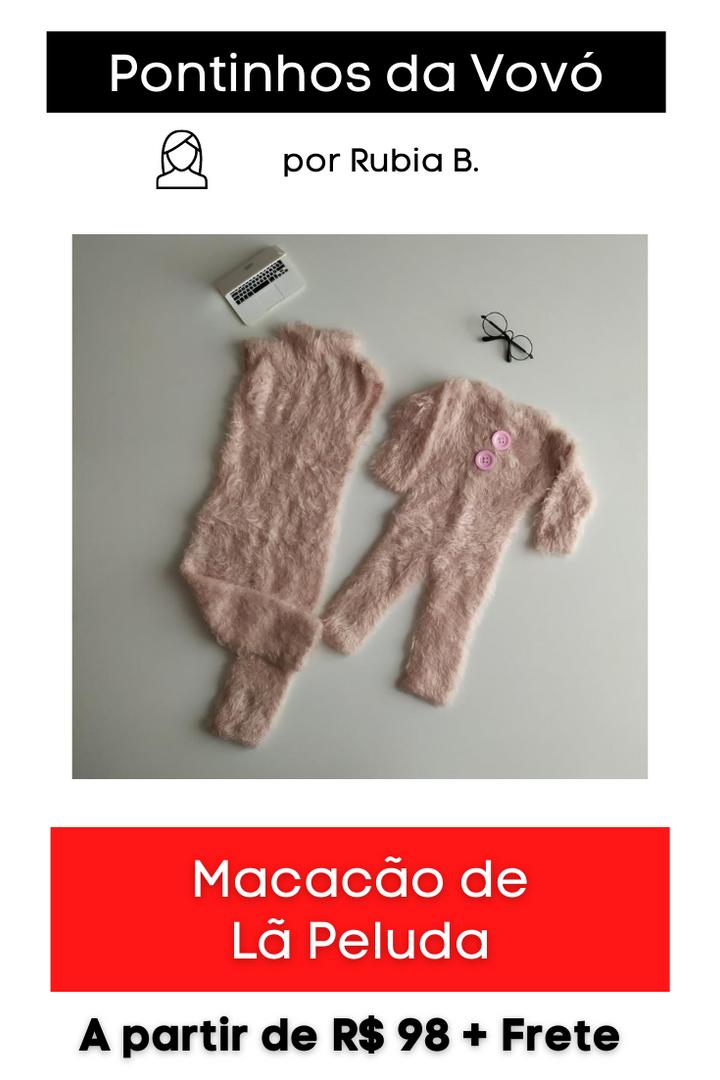 Macacão de Lã Peluda