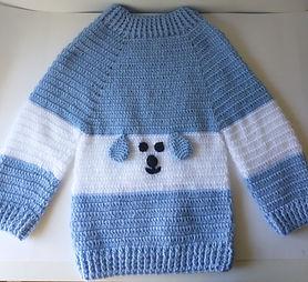 Blusa de lã infantil
