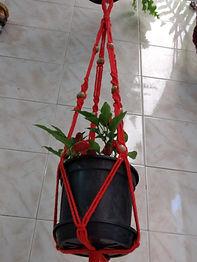 Suporte para Vaso de Planta Suspenso Macramê