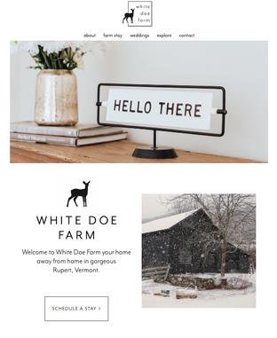 White Doe Farm Website