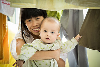 nanny, child, carrying, smiling, caregiving, caregiver
