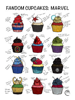 Cupcakes with Descriptions