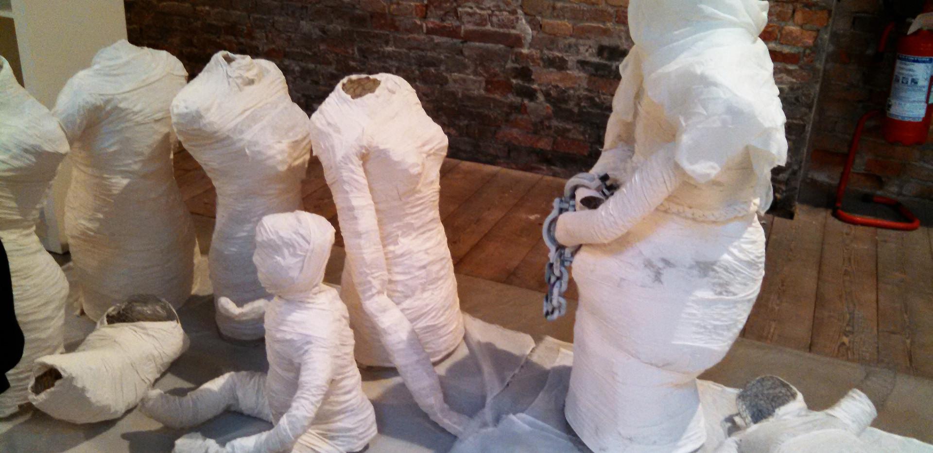 Sculptures Drying