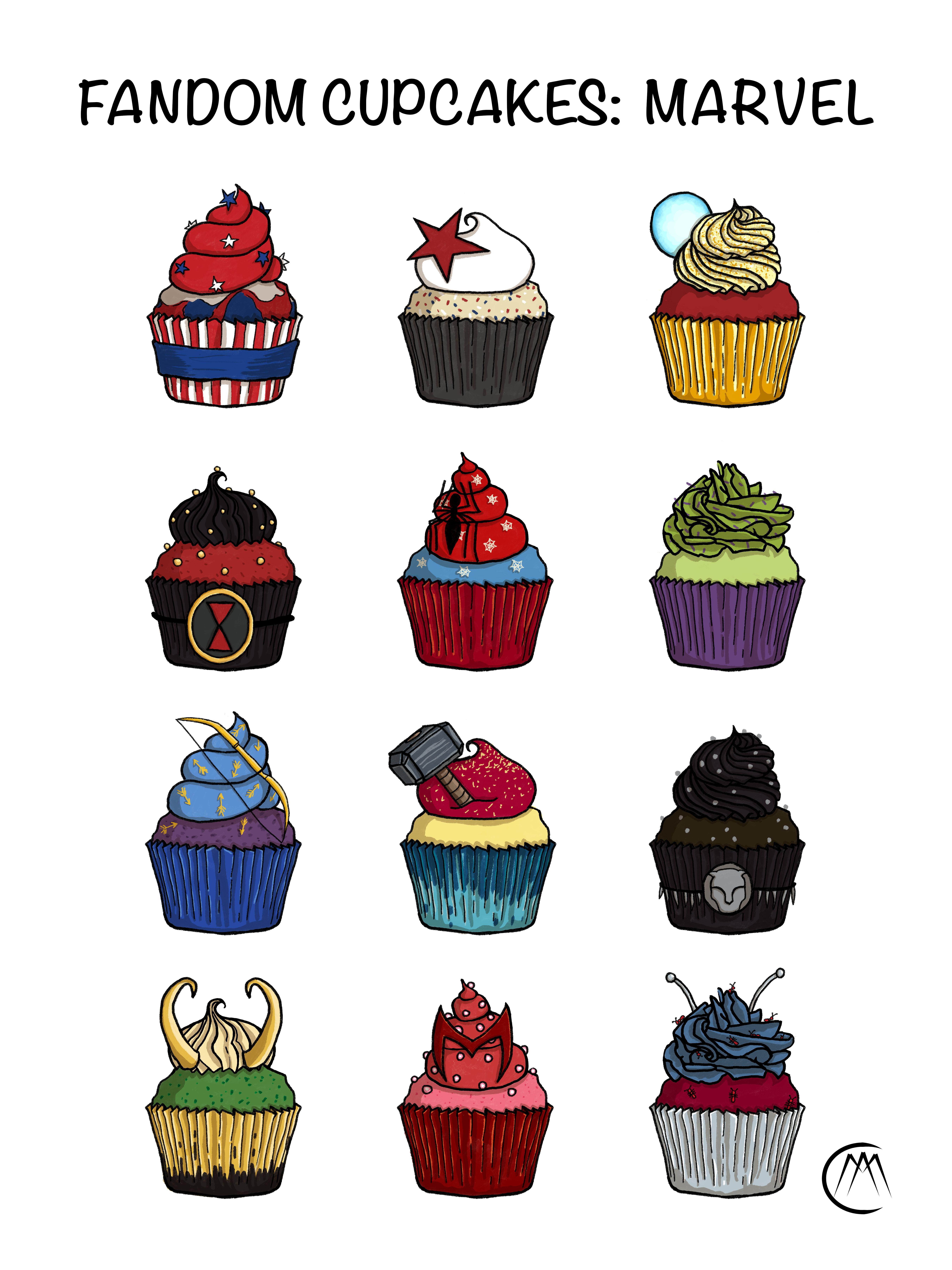 Fandom Cupcakes: Marvel