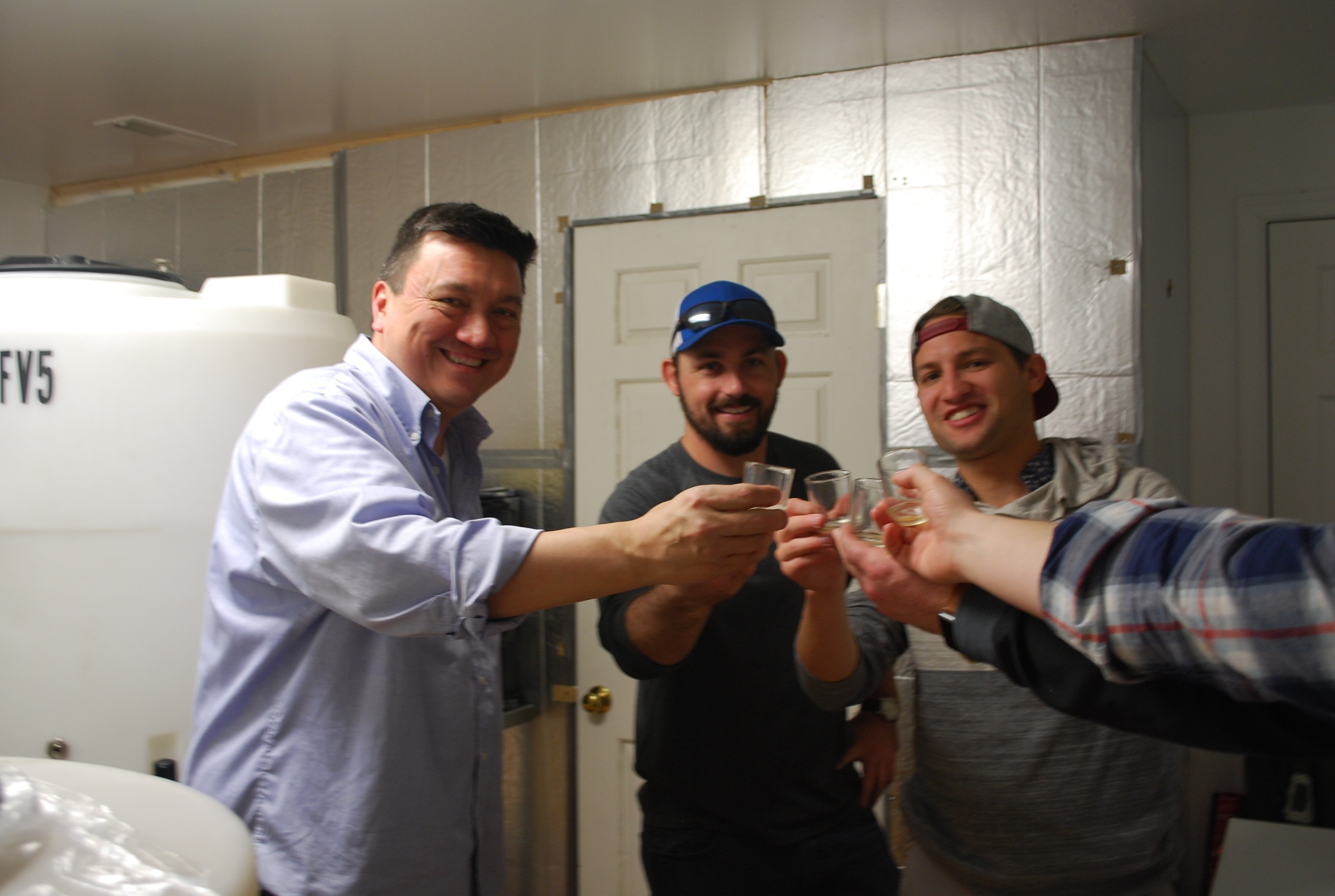 homebrewers learning from John the Brewer