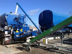 Mobile concrete plant with Sami Silo